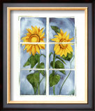Sunflowers at the Window Poster by Sonia P.