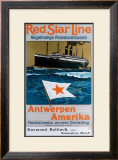 Red Star Line Framed Giclee Print