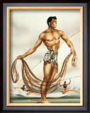 Net Fisherman Framed Giclee Print by  Gill