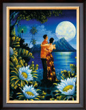 Island Honeymoon Framed Giclee Print by Warren Rapozo
