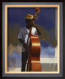 Double Bass Player, Cuba Print by Angelo Cavalli