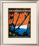 Los Angeles Steamship Company Framed Giclee Print