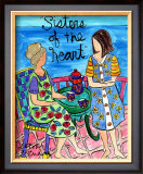 Sisters Tea Seaside Print by Deborah Cavenaugh