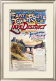 East Coast Route to the Lake District, North Eastern Railway Framed Giclee Print