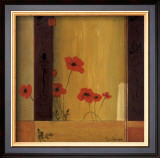 Poppy Tile II Posters by Don Li-Leger