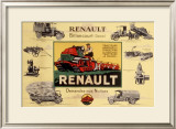 Renault Tractor Farm Equipment Framed Giclee Print