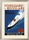Fishguard-Rosslare, artwork for GWR, 1932 Framed Giclee Print