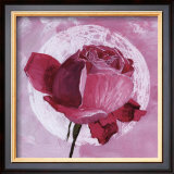 Rose Sur Pois Blanc Poster by Valerie Roy