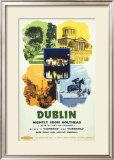 Dublin, Nightly from Holyhead Framed Giclee Print