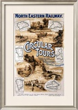 Circular Tours, North Eastern Railway, c.1920 Framed Giclee Print