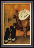 Modern Cowboy Art by Jennifer Goldberger