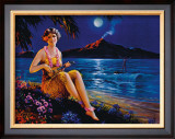 Ukulele Player Framed Giclee Print