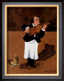 Violinist with Champagne Poster by Guy Buffet