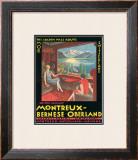 Montreux - Bernese Oberland Railway, Switzerland, c.1925 Framed Giclee Print