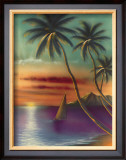Diamond Head Sunset Framed Giclee Print by  Mokihana