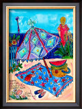 Picnic at the Beach Print by Deborah Cavenaugh