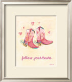 Little Pink Boots Art by Catherine Richards