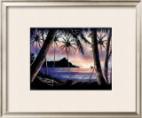 Sunrise over Diamond Head Framed Giclee Print by  Hale Pua Studio
