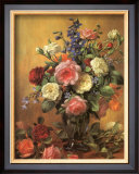 Roses in a Blue Vase Art by Albert Williams
