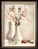 Willow Twigs with Blue Flowers Prints by Karin Valk