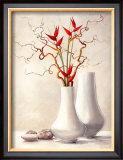 Willow Twigs with Red Flowers Posters by Karin Valk