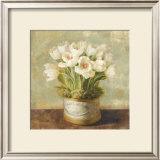 Hatbox Tulips Print by Danhui Nai