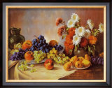 Still Life with Fruit Print by E. Kruger