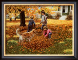 Raking Leaves Prints by Mary G. Smith