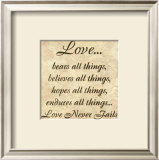 Words to Live By: Love Bears All Poster by Debbie DeWitt