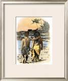 Young Sweethearts Framed Giclee Print by  Himani