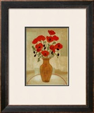 Crimson Poppies Art by Beverly Jean