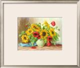 Sonnenblumen Print by E. Kruger