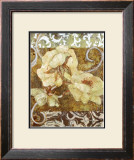 Wild Rose With Scroll II Prints by Sofi Taylor