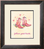 Little Pink Boots Prints by Catherine Richards