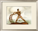 Net Fisherman with Outrigger Print by  Gill