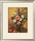 Roses in a Blue Vase Prints by Albert Williams