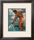 Island Fisherman Framed Giclee Print by Mickelson