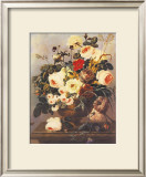 Roses, Carnations, Convolvuli Print by Johann Dreschler
