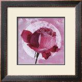 Rose Sur Pois Blanc Print by Valerie Roy