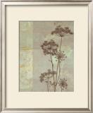 Silver Foliage I Print by Ella K.