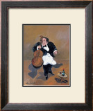Cellist with Red Wine Poster by Guy Buffet