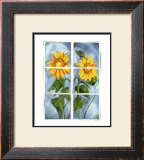 Sunflowers at the Window Print by Sonia P.