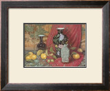 Lemons with Black Vase Prints by Francie Botke