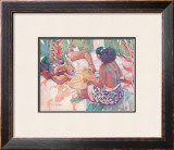 Heliconia Framed Giclee Print by Susan McGovney Hansen