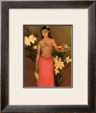 Banana Girl Framed Giclee Print by John Kelly
