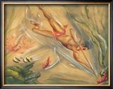 Spear Fisherman, Hawaii Prints by Ted Mundorff