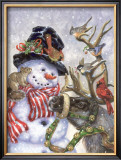 Frosty, Prance And Friends Posters by Donna Race