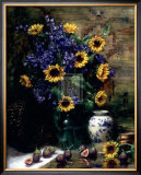 Sunflowers and Figs Posters by F. Janca