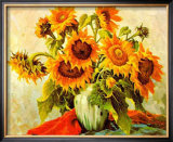 Sonnenblumen III Prints by E. Kruger