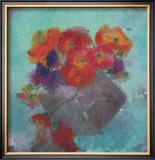 Vase mit Mohnbluten Poster by J. P. Pernath